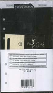 QUO VADIS Recharge Accessoires Organiseur INTERCALAIRE+REGLE Timer 17 10 x 17 cm