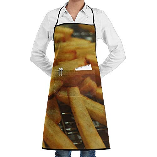 rwwrewre Kitchen Bib Apron French French Fries Adjustable for Cooking Baking Kitchen Restaurant Crafting BBQ Unisex Oyster-server