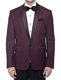Favoroski Men's Polyester and Viscose Blazers - Wine
