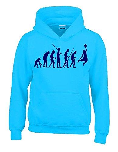 BASKETBALL Evolution Kinder Sweatshirt mit Kapuze HOODIE sky-navy, Gr.164cm
