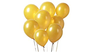 PuTwo Doré Ballon, 100pcs 12 Pouces Dorés Ballon Baudruche Or Dore Ballons Latex pour Décoration Hollywood Anniversaire, Anniversaire 50 Ans Mariage, Decoration Mariage Doré, Decoration Bapteme Fille