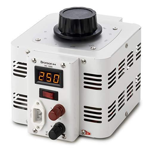 41YOx61CKIL. SS500  - Bronson++ VC 1000 Variable Transformer Variac Toroidal Core - In: 230V - Out: 0-300V - 1000 Watt