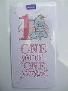 1st Birthday-Dumbo, (Disney) Birthday Card