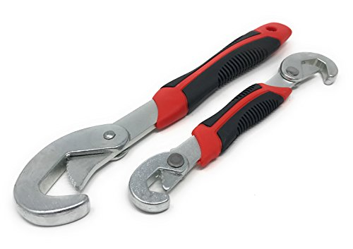 2 teilige Universal Schraubenschlüssel 9-32mm | Verstellbare Ringschlüssel Griff Werkzeug-Sets | 2 Stück Gabelschlüssel Maulringschlüssel - Schnell Verstellbar Bayram