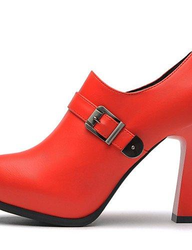 WSS 2016 chaussures pour femmes synthétique talons printemps / automne / hiver talons mariage / partie&soirée talon épais paillettes red-us5 / eu35 / uk3 / cn34
