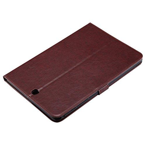 Custodia Galaxy Tab A 9.7, Galaxy Tab A 9.7 Flip Case Leather, SainCat Custodia in Pelle Cover per Samsung Galaxy Tab A 9.7 T550/T555, Anti-Scratch Book Style Protettiva Caso PU Leather Flip Portafogl Marrone