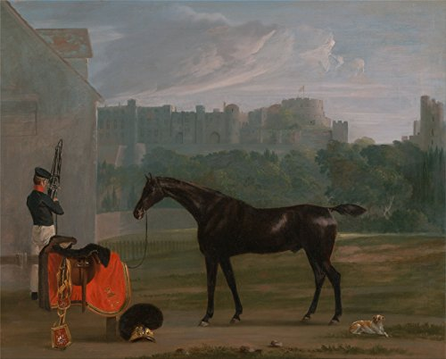 Spiffing Prints Edmund Bristow - Outside The Guard House at Windsor - Small - Matte - Black Frame