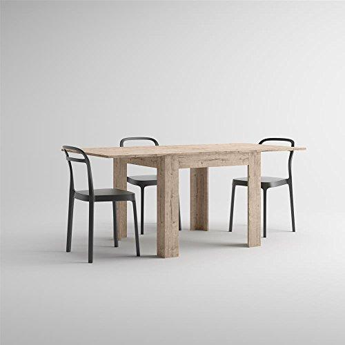 Mobilifiver eldorado tavolo allungabile da pranzo, nobilitato, quercia, 90 x 90 x 77 cm