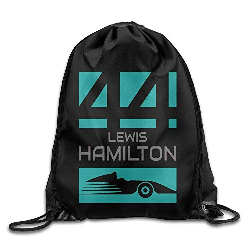 SaiBaing Lewis Hamilton 44 F1 Sport Backpack Drawstring Print Bag Hamilton Beach Nylon