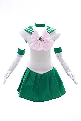 Kawaii-Story H de 6002 Sailor Moon Jupiter Verde Blanco Disfraz Cosplay Vestido Dress Costume