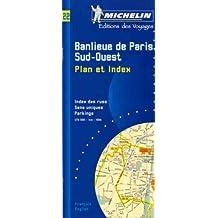 Banlieue de Paris. Banlieue Sud-Ouest, Plan avec répertoire, 1/15 000