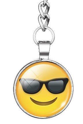 Cool Sonnenbrillen Emoji Schlüsselanhänger Whats App Metall/Glas 3cm