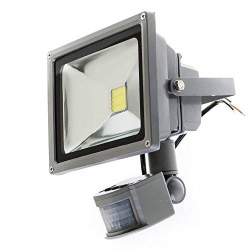 tempo di saldi Faro A Led 50 W Luce Bianca Fredda Con Sensore Di Movimento Crepuscolare IP65