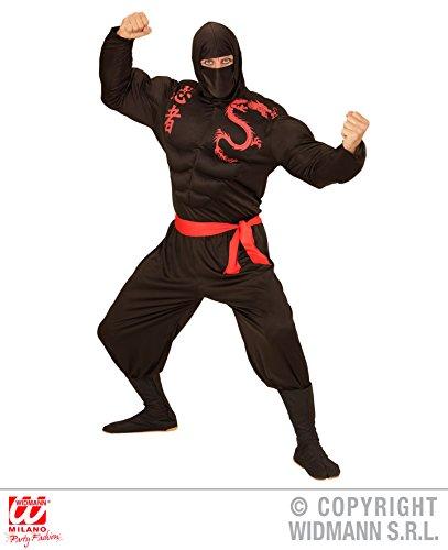KOSTÜM - SUPER NINJA - Größe 50 (M), asiatischer japanischer Geheimbund Shinobi Held Hero Kampfkunst