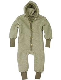 Cosilana Baby-Kinder Overall mit Bündchen aus Wollfleece kbT Wollbody®