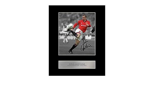 Eric Cantona Photo d/édicac/ée encadr/ée Manchester United FC