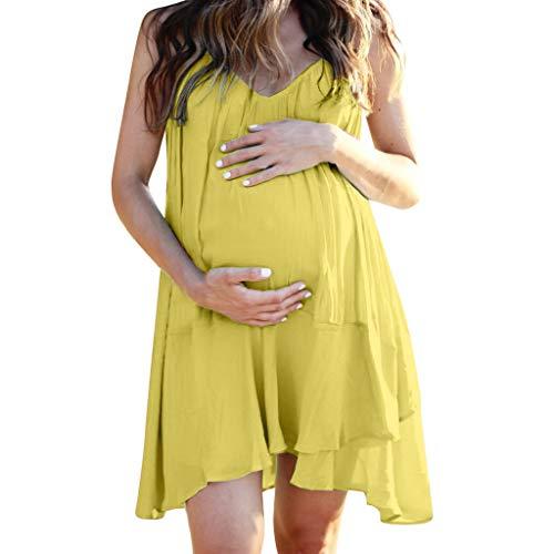 Schwangere Kleider Für Damen, Damen Sommerkleid Umstandskleider Ärmelloses Damenkleid Sommer Feste Stillkleider Sexy Minikleid Umstandskleid Nachthemd - Tyvek-shirts