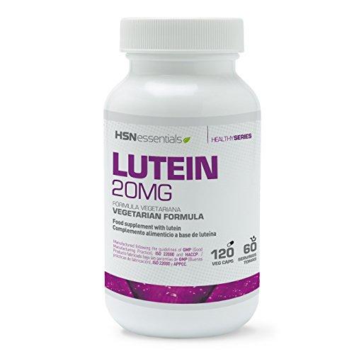 HSN Essentials - Luteína 20mg - Salud Ocular - Cuidado de los Ojos - Apto Vegetariano - 120 Cápsulas
