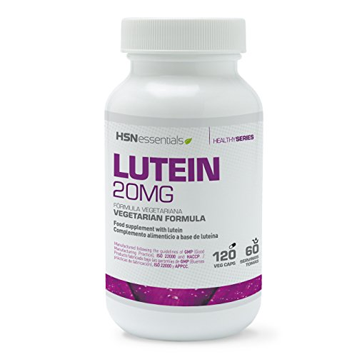 Luteína 20mg de HSN Essentials | Con Zeaxantina | Extracto 25:1 de flores de Tagetes...
