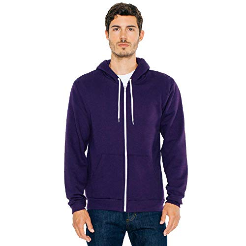 American Apparel Unisex Flex Fleece-Kapuzenpulli F497 - Imperial Purple - L -