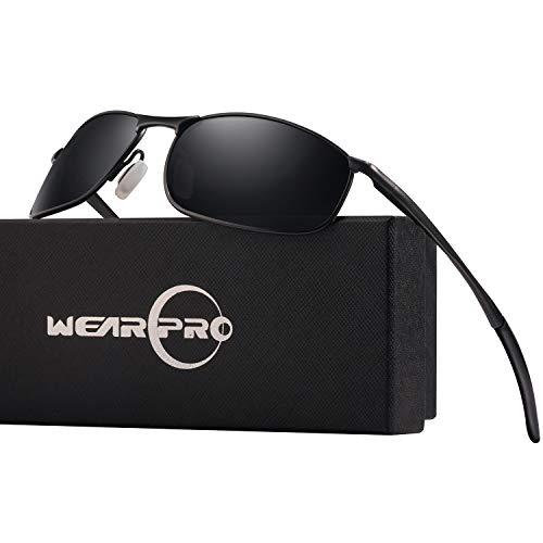 eca983f686 Men s Sports Polarized Metal Frame Sunglasses WearPro HD Lens Hot Fashion  Sunglasses for Men WP1015(