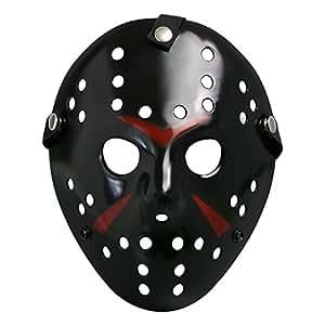 Landisun Masque de Jason Cosplay Halloween Costume Masque Soutenir Horreur Le hockey (adulte, noir)