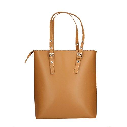 f7fa22b4a4 ... Chicca Borse Borsa a tracolla in pelle 36x38x14.5 100% Genuine Leather  Cuoio ...