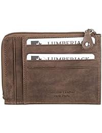 Cartera hombre LUMBERJACK cognac cuero bolsillo zip tarjetas de credito A5493