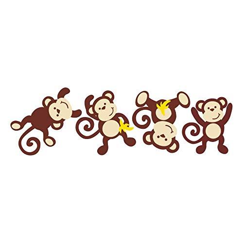 leber Jungle Theme Wandaufkleber Lively & Lovely Animal Removable Murals Für Kindergarten Kinderzimmer Dekoration ()