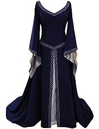 c91ae83ff519 Vestito Medievale Donna Ricamo Costume Lavando Il Pavimento Cosplay  Principessa Vestito Gotico Rinascimentale