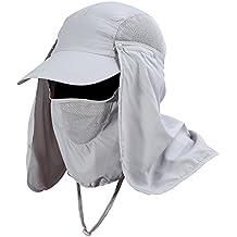 VGEBY Gorra de Protección Solar Anti-UV con Máscara Extraíble Sombrero Tapa  de Cuello y de79ca43489