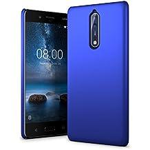 SLEO Custodia per Nokia 8, PC Duro Case Ultra Thin Fit Leggero [Cover Sottile & Robusto] Rivestimento Soft-Feel Protezione Protetto per Nokia 8 - Blu