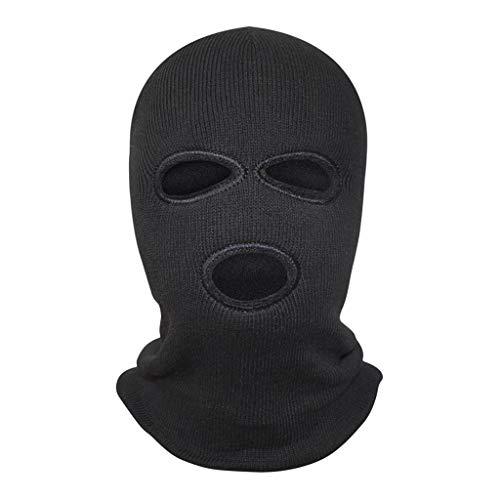 ZZ HAT Schwarze Sturmhaube , Unisex 3-Loch-Maske Nackenwärmer Skimaske Outdoor-Ski-Reitausrüstung Helm -