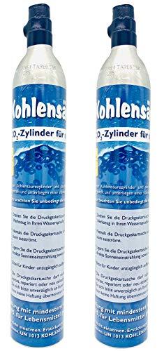 SodaNatureTM | Neu & Erstbefüllt: Duo Pack: 2 Versiegelte CO2-Zylinder für alle SodaStream Wassersprudler (z.B. Crystal) | Reserve-Gaskartuschen jeweils gefüllt mit 425g Kohlensäure für 60L