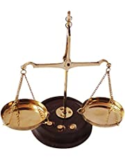 GREENTOUCH CRAFTS Diwali Special Antique Traditional Brass Weighing Scale