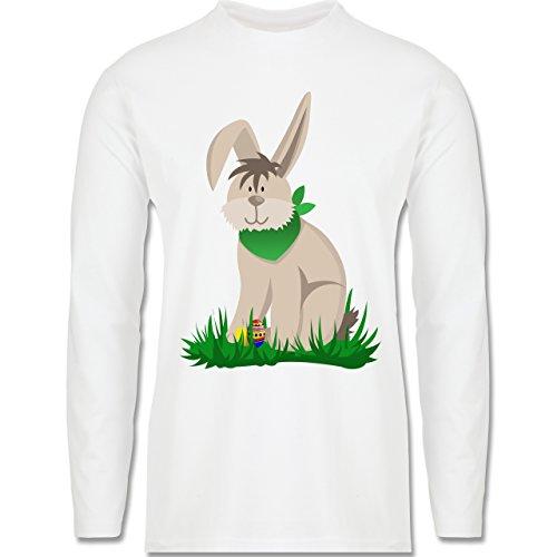 Ostern - Osterhase - Longsleeve / langärmeliges T-Shirt für Herren Weiß