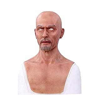 Ajusen Real Male Masks Silicone Realistic Full Head Masquerade for Crossdresser Cosplayer Man mask Halloween Costume Party