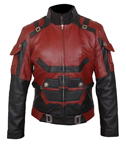 Daredevil Charlie Cox Leather Jacket- Perfect Halloween Costume- ()