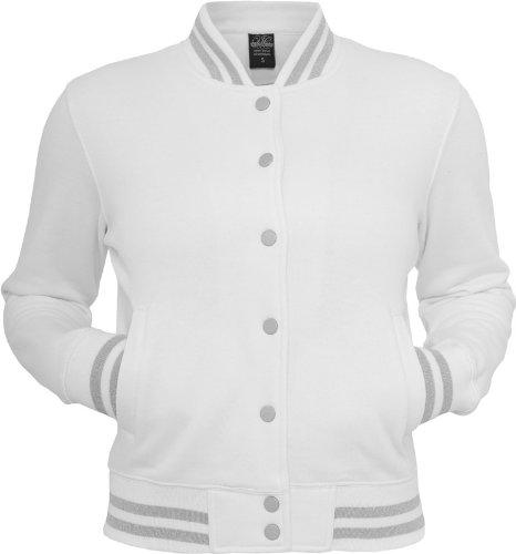Urban classics veste pour homme college tB357 métallique pour femme coupe regular Multicolore - Blanc/argent
