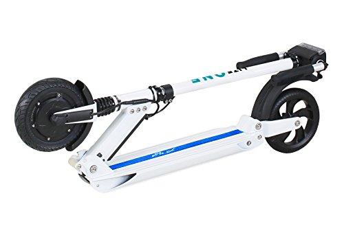 eFlux Elektroroller Scooter - 500 Watt Motor - Bis 30 km/h - 30 Km Reichweite - Nur 10,8 Kg leicht - Klappbar - E-Scooter (Lite One Weiß Türkis)