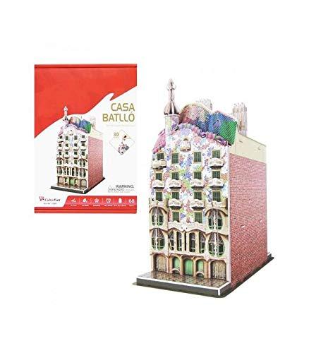CubicFun 3D Puzzle España Casa Batlló Modelo de construcción Kit para Construir, 68 Piezas