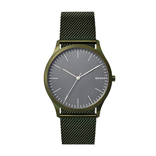 Skagen Herren Analog Quarz Uhr mit Edelstahl Armband SKW6425