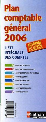 PLAN COMPTABLE GENERAL 2006