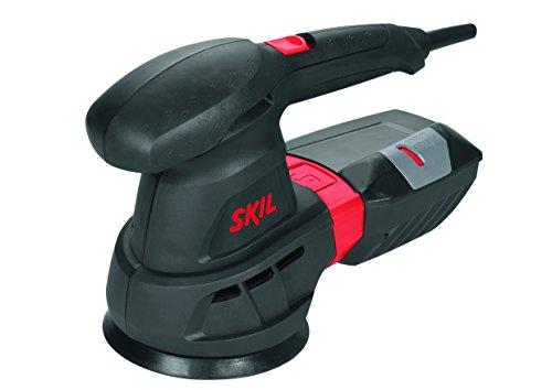 Skil-Exzenterschleifer-7445-AA-430-W--125-mm-Staubfllstandanzeige-3-tlg-Schleifpapierset