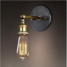 Splink Vintage lámpara de metal lámpara de pared industrial latón acabado simple cabeza de cobre (Lampada Da Parete Finita)