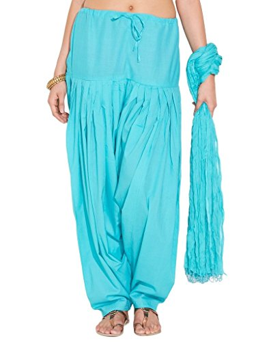 Charu Boutique Women's Cotton Patiyala and Dupatta set