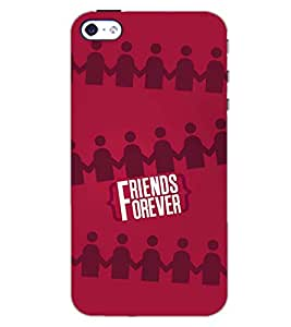 PrintDhaba FRIENDS FOREVER D-6745 Back Case Cover for APPLE IPHONE 4 (Multi-Coloured)