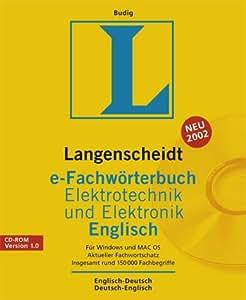 Langenscheidt e-Fachwörterbuch Elektrotechnik und Elektronik Englisch