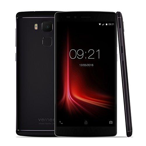 "Vernee Apollo Lite - 4G Smartphone Libre Deca-core Android 6.0 (Pantalla 5.5""FHD 1920x1080P, MT6797, 4G Ram, 32G Rom, Dual Sim, Type-C, 16MP Cámara Huella Dactilar) (Negro) width="