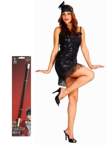 20er Jahre Charleston-Kleid - für Damen - mit Zigarettenspitze - Einheitsgröße